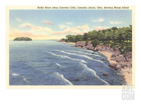 Catawba Cliffs, Catawba Island, Cleveland, Ohio Premium Poster at Art.com