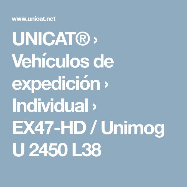UNICAT® › Vehículos de expedición › Individual › EX47-HD / Unimog U 2450 L38