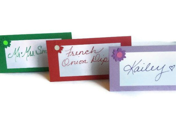 Flower Placecards Wedding Shower Birthday by AlwaysPrettyPaper, $4.00