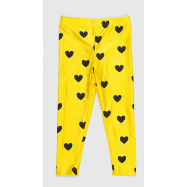 Mini Rodini SS15: Love AOP leggins (yellow) tytölle 128/134cm (37e)