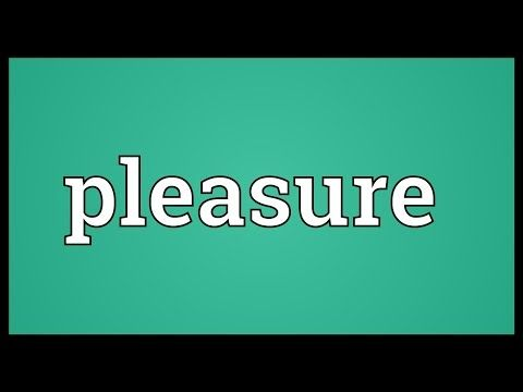 Pleasure Meaning - YouTube