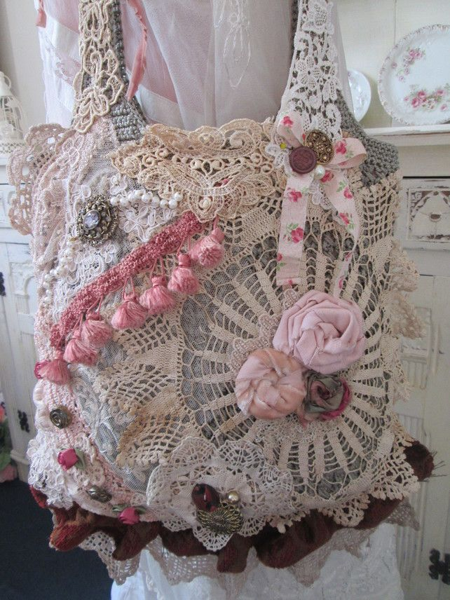 Shabby Victorian large handbag tote £55.00