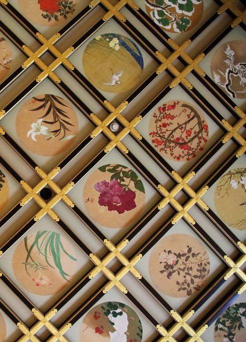 """Paintings on the ceiling of Eiheiji Temple, Fukui pref"""" Japan."""