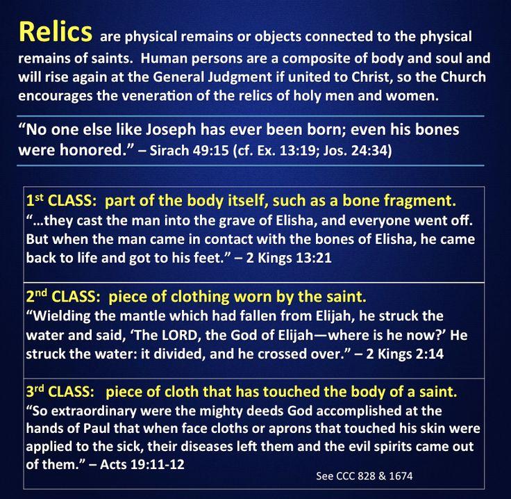 Relics in Scripture.