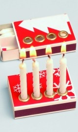 Pocket advent - Hilarious, so you can bring your advent candles with you when traveling. Comes with candles and matches