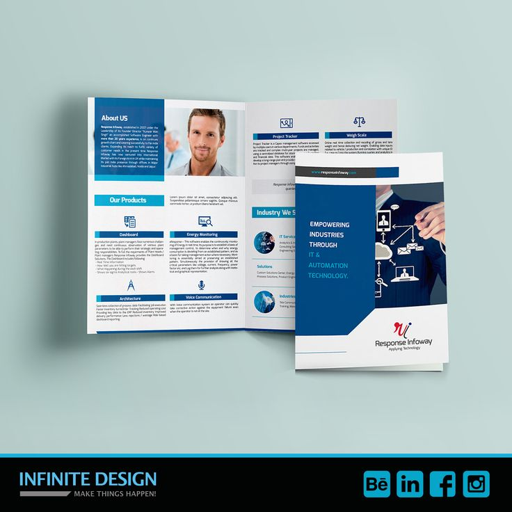 Omg! we are doing so many brochures lately, sometimes I don't have time to upload all of them, but this one was made the last week for Response Infoway a company that offers #IT #services and more. Based in #UK — en Cardiff.