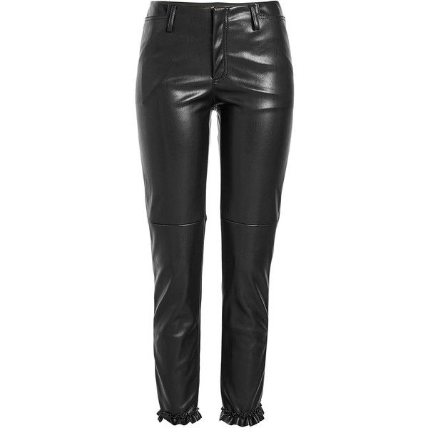 Philosophy di Lorenzo Serafini Faux Leather Pants (1.405 BRL) ❤ liked on Polyvore featuring pants, leather pants, black, faux leather trousers, vegan leather pants, fake leather pants, imitation leather pants and philosophy di lorenzo serafini