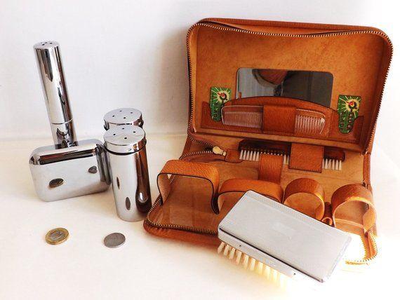 b0a8dc2315e4 Vintage Male Vanity Shaving Set, Mens Wet Shave Vanity Kit Unused ...