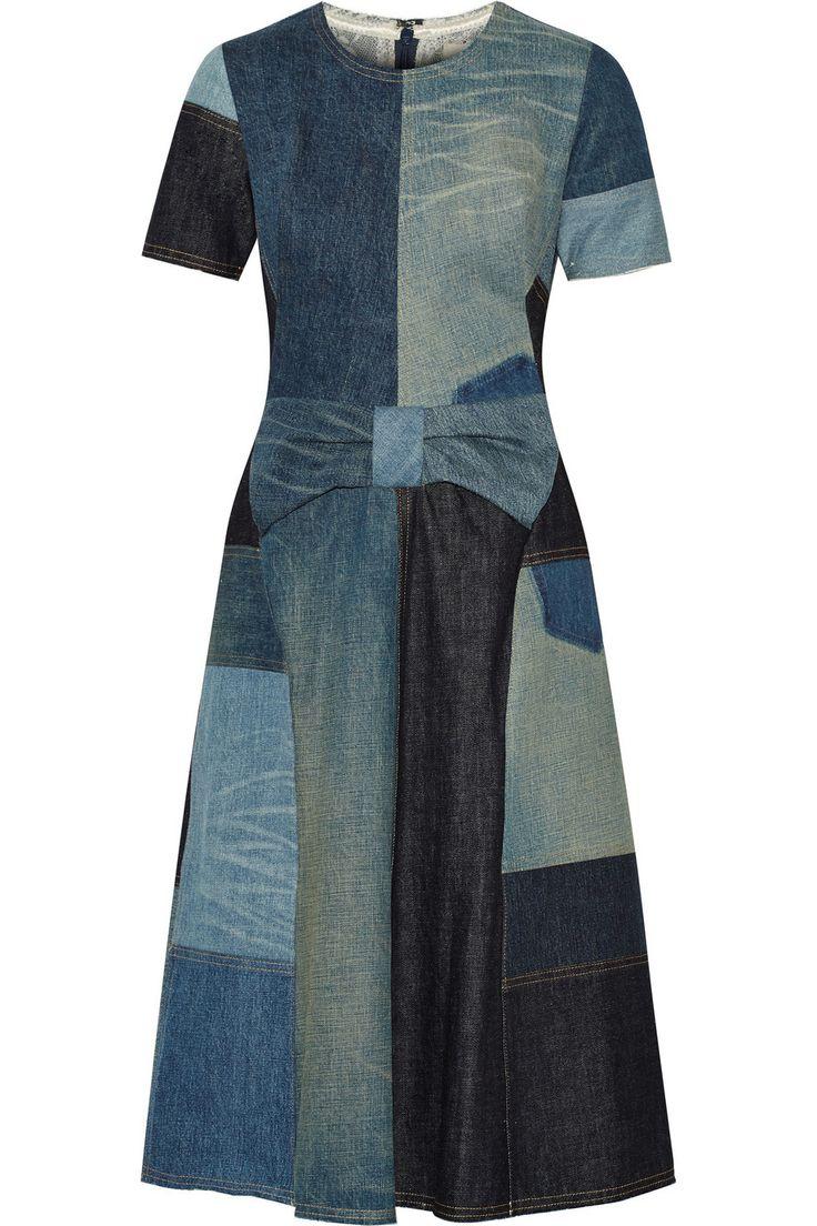 Junya Watanabe|Patchwork denim dress|NET-A-PORTER.COM