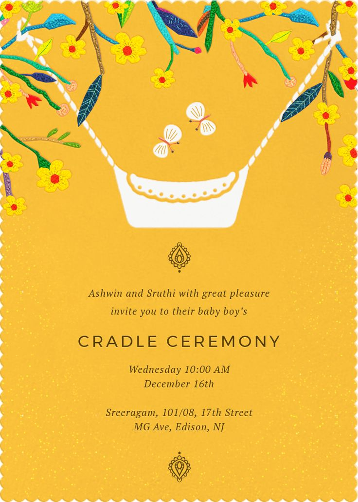 Butterfly lullabies invitation invites cradle ceremony