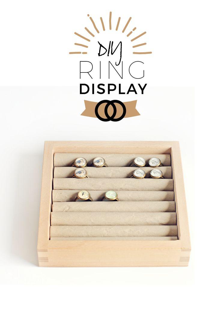 DIY Ring Display oder: der nächste Markt kommt bestimmt