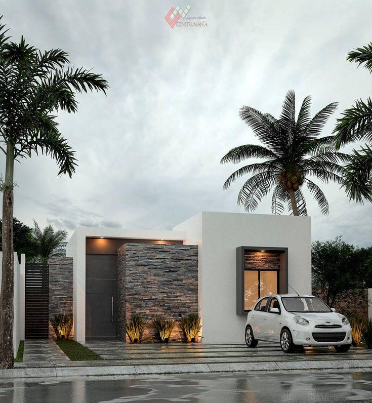 Home Exteriorstone Design Ideas: Frontis De Casas, Fachada De