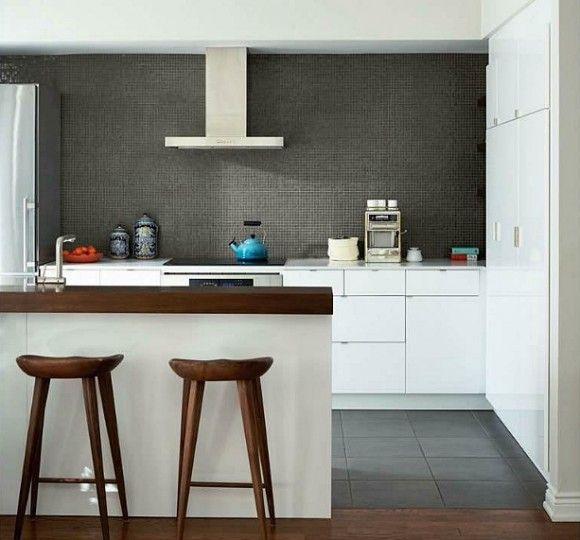 Textured wall in kitchen