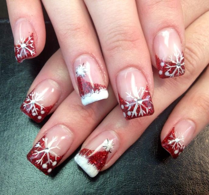 Holiday Gel Nail Designs: 25+ Best Ideas About Holiday Acrylic Nails On Pinterest