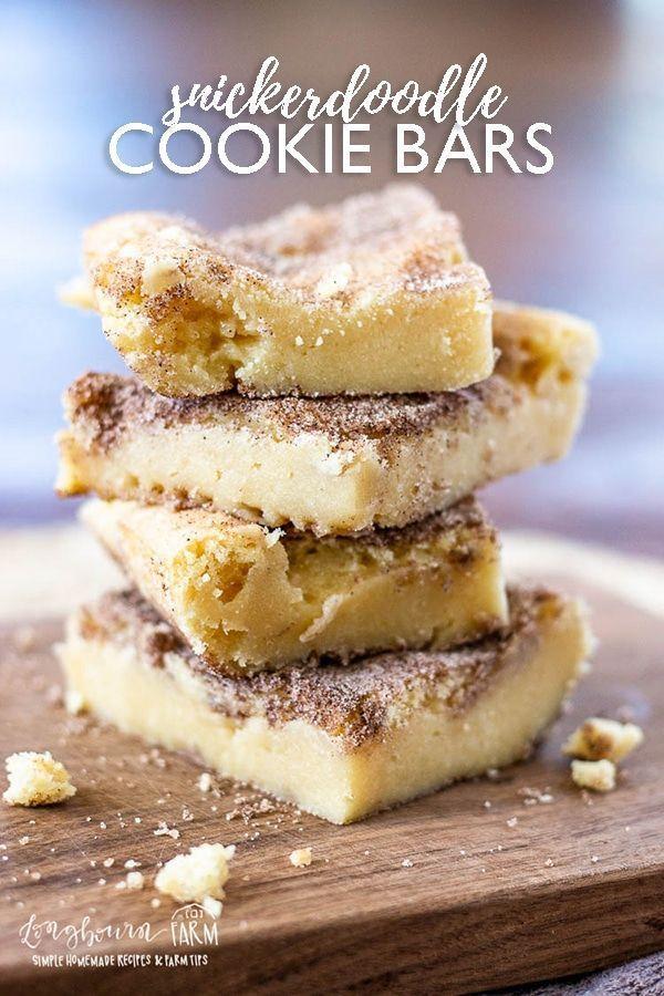 Snickerdoodle-Riegel schmecken genauso gut wie die Kekse, sind aber einfacher zuzubereiten. Weich und …