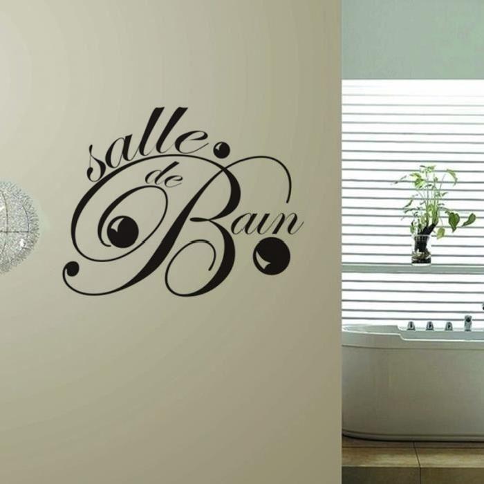 Les 25 meilleures id es concernant stickers salle de bain - Sticker pour salle de bain ...