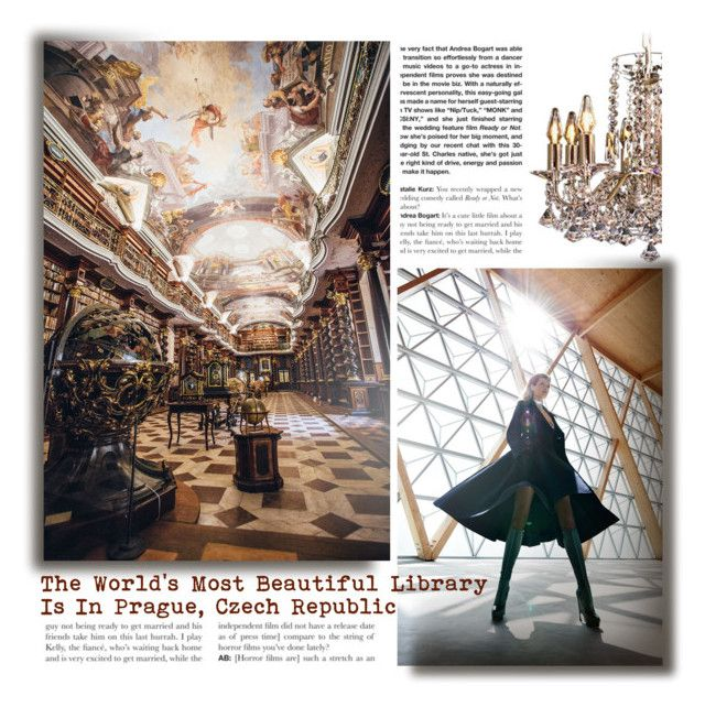 The World's Most Beauiful Library Is In Prague, Czech Republic by betiboop8 on Polyvore featuring art