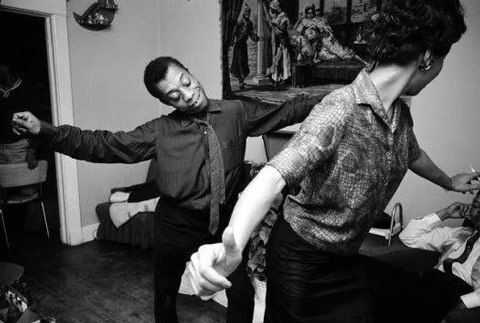 20 Excellent Photos of Famous Authors Partying. (James Baldwin and Lorraine Hansberry cutting a rug. )