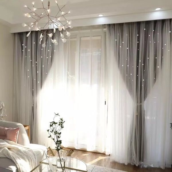 European Style Home Decor Romantic Voile Cloth Curtains For Living