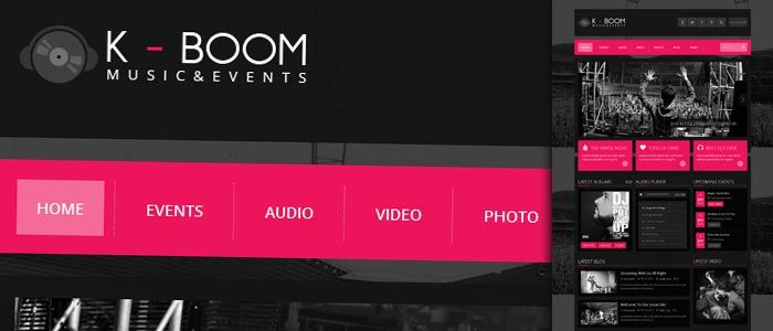 K-BOOM is one of the best music WordPress themes. This theme has a ultra responsive layout adapting perfectly and allowing you to visit it from any devices you want.