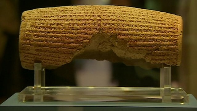 BBC News - Cyrus Cylinder: How a Persian monarch inspired Jefferson