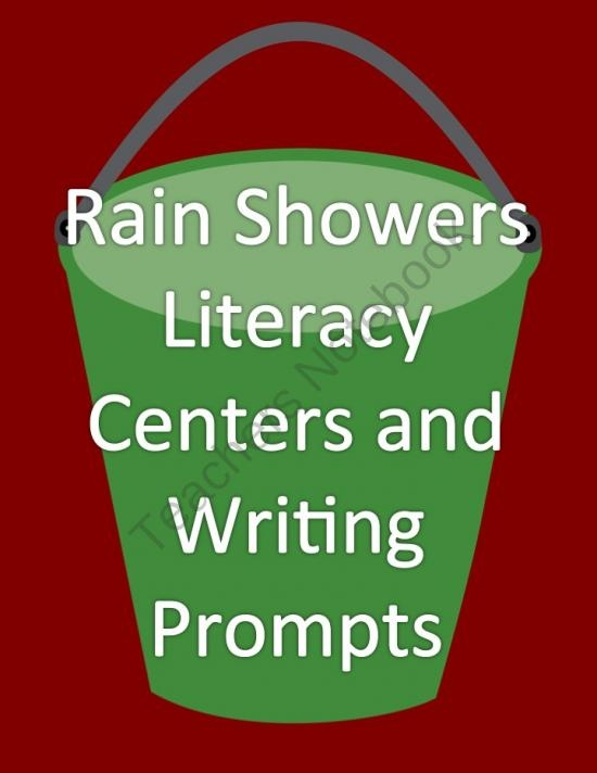 Rain Showers Literacy Centers and Writing Prompts for April product from 4thGradeRacers on TeachersNotebook.com