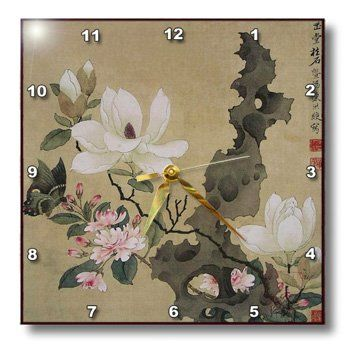 Special Offers - Florene  Asian Art  Print of Chinese Ink Painting With Floral and Butterfly  1515 Wall Clock (dpp_212680_3) - In stock & Free Shipping. You can save more money! Check It (July 11 2016 at 05:33AM) >> http://wallclockusa.net/florene-asian-art-print-of-chinese-ink-painting-with-floral-and-butterfly-15x15-wall-clock-dpp_212680_3/