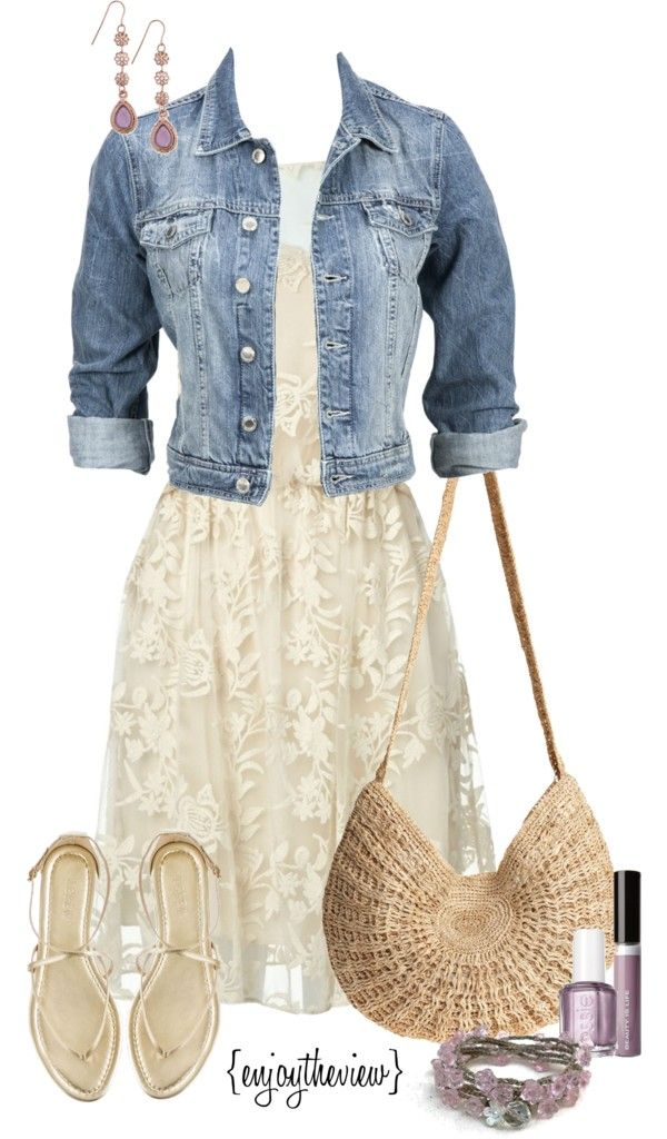 """lavender & cream casual"" by enjoytheview on Polyvore"