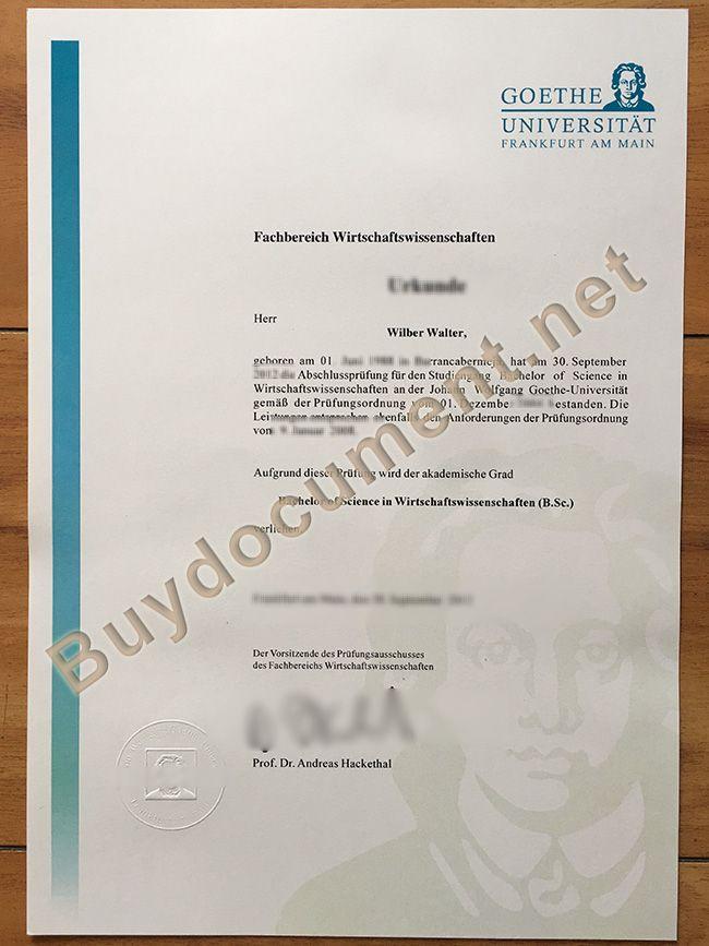 Whatsapp 8613266747007 How To Make Goethe University Frankfurt Fake Diploma Buy Goethe University Frankfurt Fake Degree Fake Go Diploma Goethe University