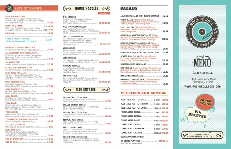 Koi Sushi And Noodle Bar Restaurant Menu