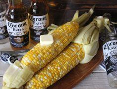 ~Corona Steamed Corn!Fresh Corn  1 Corona per 2-3 Ears of Corn  Lime  Salt  Butter  A large Steamer!