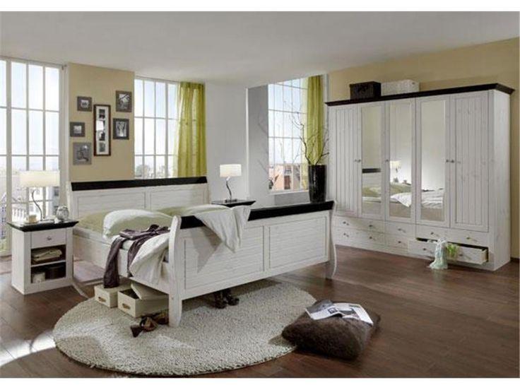 Elegant Schlafzimmer Set teilig Bett Kleiderschrank Nachttisch Steens Monaco