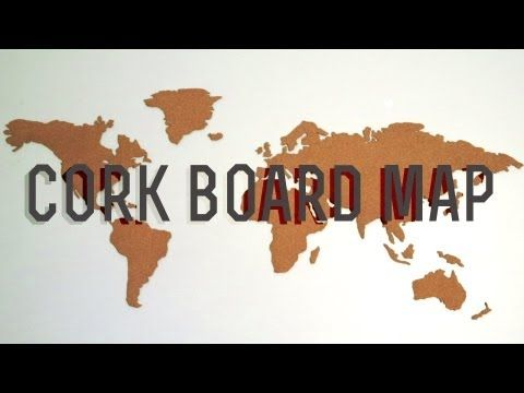Make your own cork board map. Super easy instructions! This is happening TODAYYYY