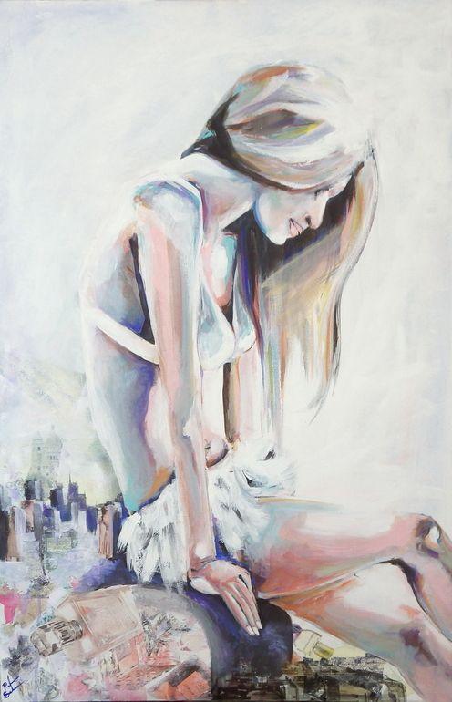 "Saatchi Online Artist: Rikki Sneddon; Acrylic 2013 Painting ""Paris Has Fallen"""