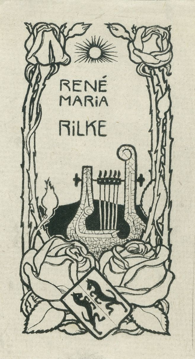 """'The name 'Rainer' is a French baby name meaning strong counselor. People with this name tend to be idealistic, highly imaginative, intuitive, spiritual. Historically, the name 'Maria' was sometimes used as a male (middle name) where it signified patronage of the Virgin Mary."""" - Image: Exlibris"""