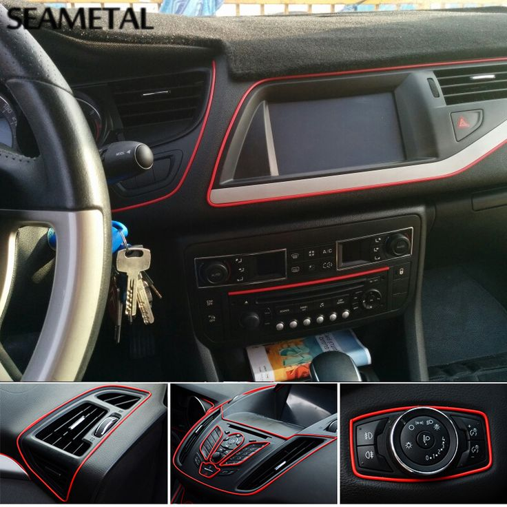 5M Universal Car Styling Flexible Interior Internal Decoration Moulding Trim Decorative Strips Line DIY Stickers Car-Styling