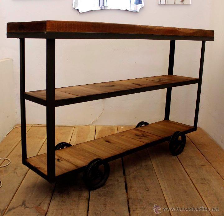 Vintage: Carrito / estanteria industrial - Foto 2 - 47185026