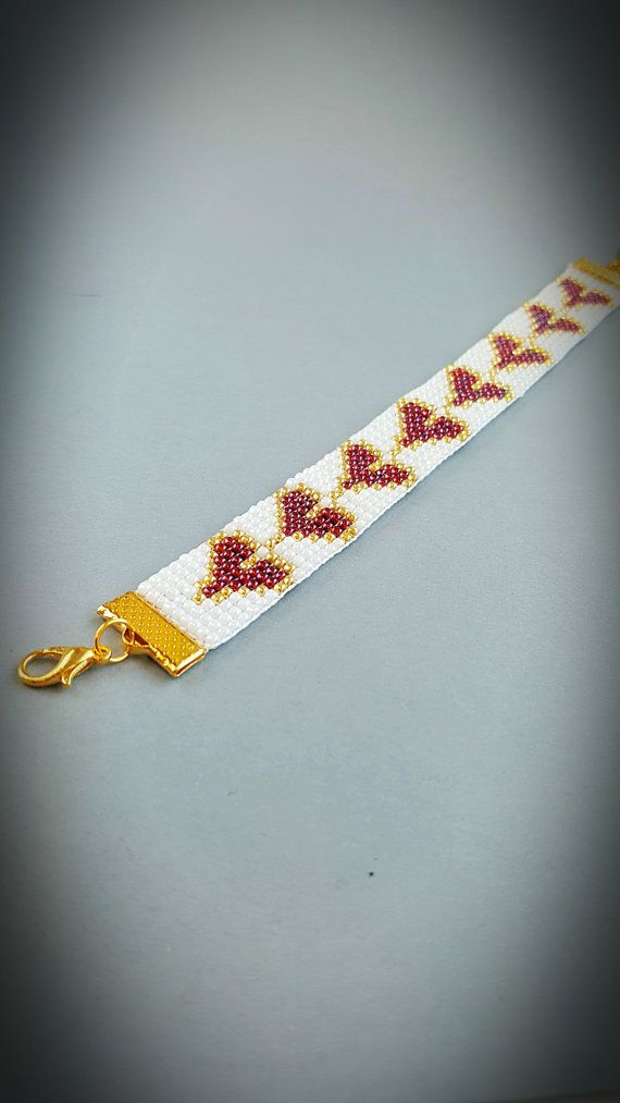 Handgemaakte loom armband Beaded armband door StellaBlauneDesign