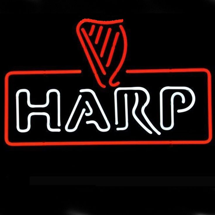 harp lager guinness pub store display beer bar real neon sign xmas gift beer barcheap neon signscustom