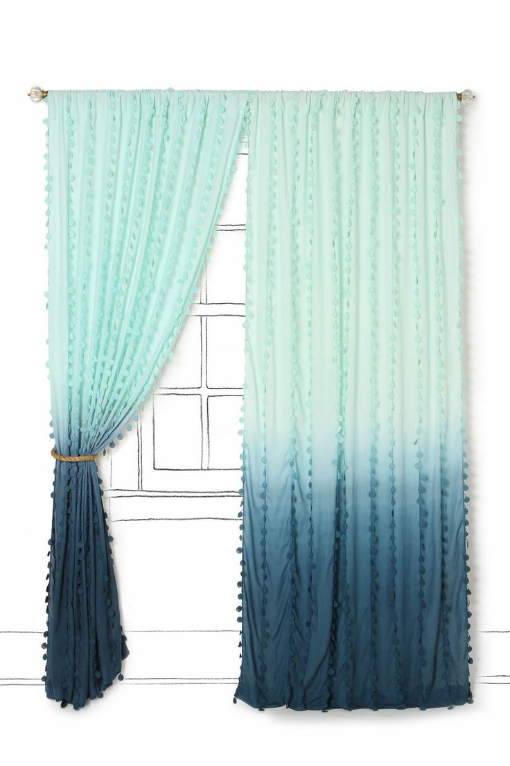 Anthropologie wavering ombré curtains - gorgeous shades of turquoise