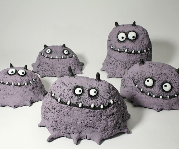 pet lump toothy monster sculptures