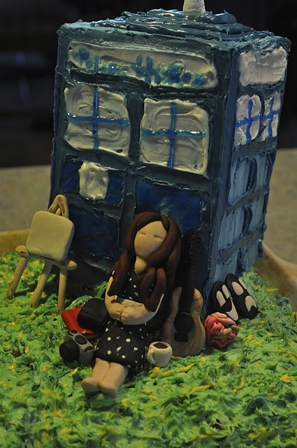 The Dr Who cake I made... also added to it all the odd things that I love.