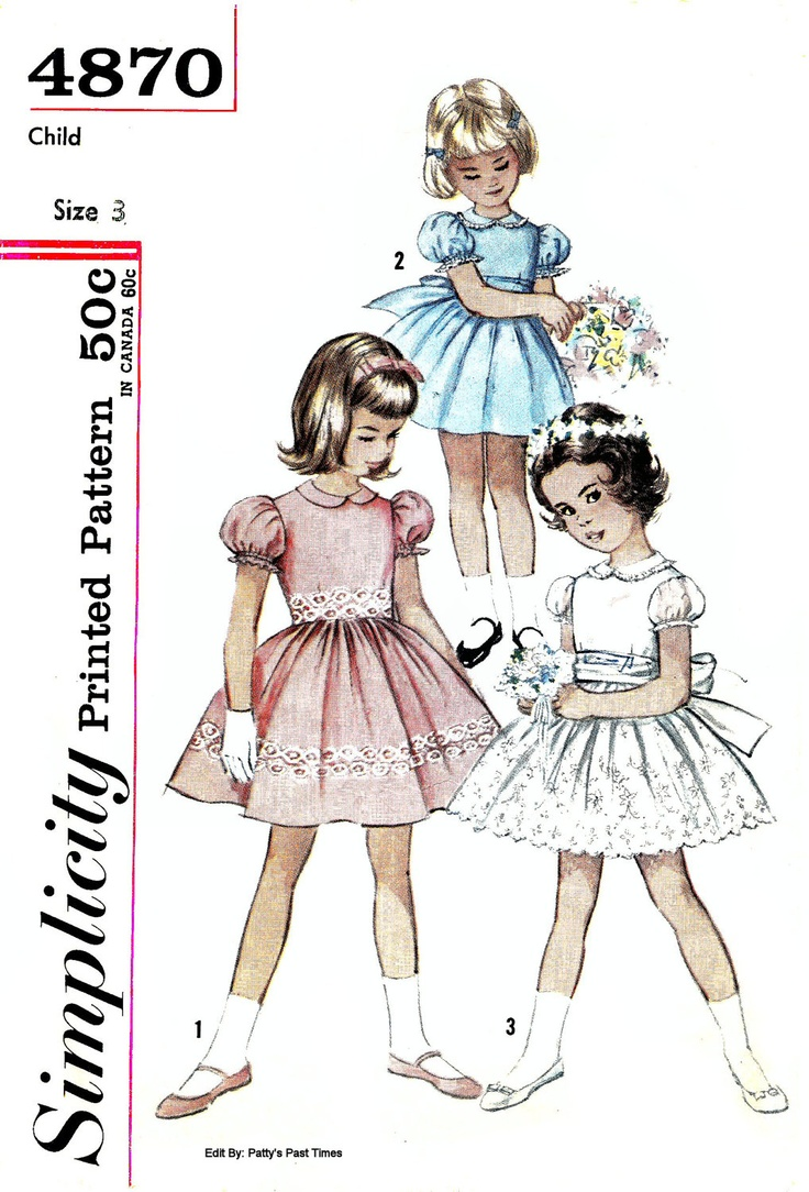 Retro Little Girl Dresses Fashion Design Images