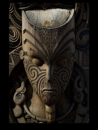 Photo was taken on March 12, 2011 in Waipa Village, , NZ - | Maori | Art | Sculpture |