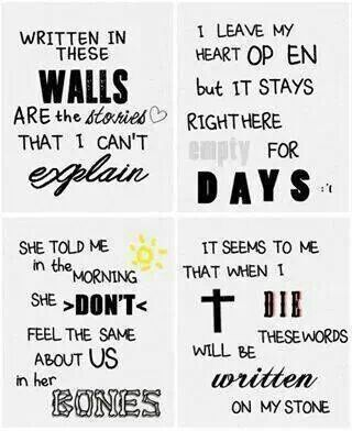 Story Of My Life ♡ | Lyrics|| Song title | Pinterest