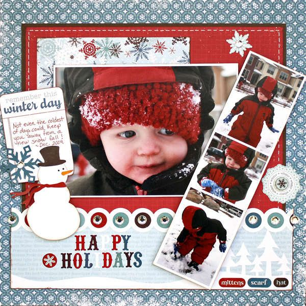 Love this color schemeScrapbook Ideas, Scrapbook Layouts, Scrapbook Christmas, Holiday Scrapbook, Christmas Scrapbook Layout, Winter Scrapbook, Scrapbook Pages, Happy Holiday, Echo Parks