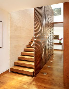 Wood Staircase - asian - staircase - los angeles - Rockefeller Partners Architects