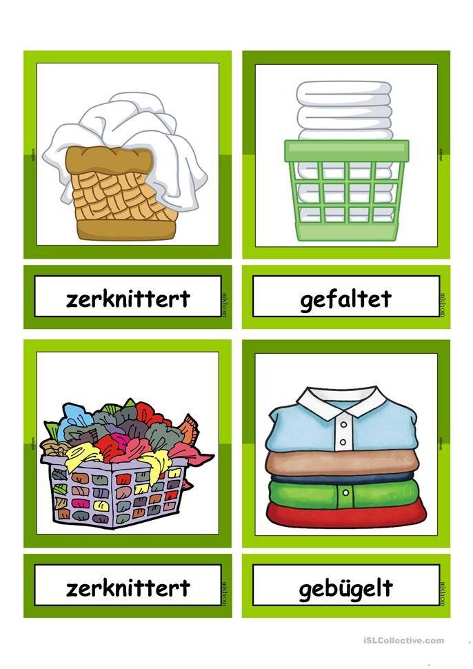 waschtag adjektive flashcards klein gegens tze deutsch deutsch lernen und deutsch unterricht. Black Bedroom Furniture Sets. Home Design Ideas