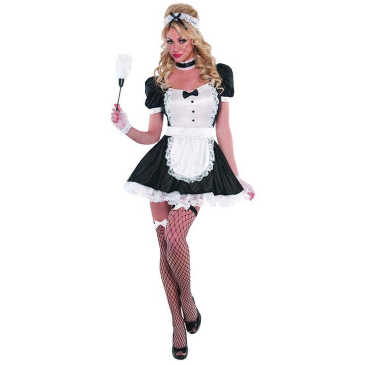 fancydressvip - Ladies Sassy French Maid Fancy Dress Costume, £22.99 (http://www.fancydressvip.com/adults/ladies/hen-do/ladies-sassy-french-maid-fancy-dress-costume/)