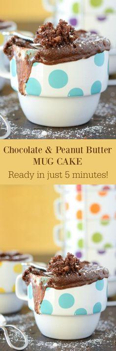 Chocolate Peanut Butter Mug Cake - I found the secret to the best mug cake, no egg!